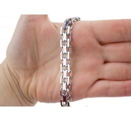 Браслет серебряный Двойной якорь (52230рб)