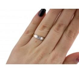Кольцо серебряное с золотом (582рк)