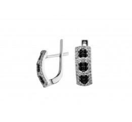 Серьги серебряные с цирконием Флейм (2181/1р)