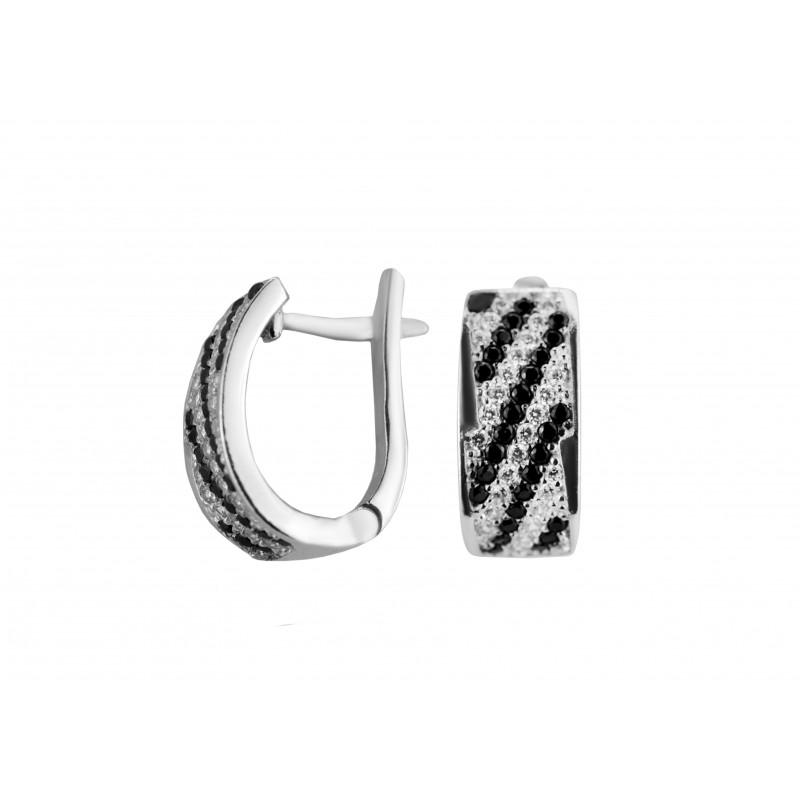 Серьги серебряные с цирконием Мальвазия (2139/1р)