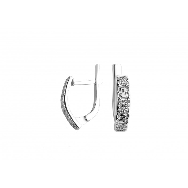Серьги серебряные с цирконием Гелла (2188/1р)