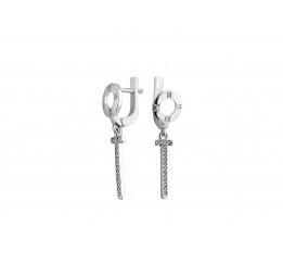 Серьги серебряные с цирконием Темпера (2222/1р)