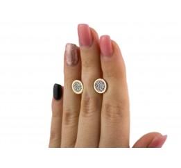 Серьги пусеты-гвоздики серебряные с золотом (569р)