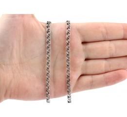 Цепочка серебряная Двойной ручеёк (810слч)