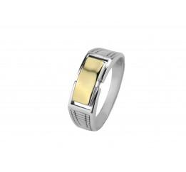 Печатка серебряная с золотом (643з)