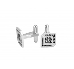 Запонки серебряные с цирконием (0273.10)