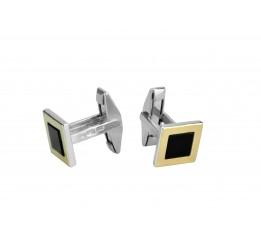Запонки с золотом и ониксом (775з)