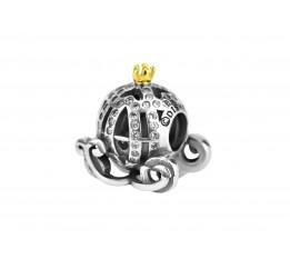 Бусина пандора серебряная Карета (С044)