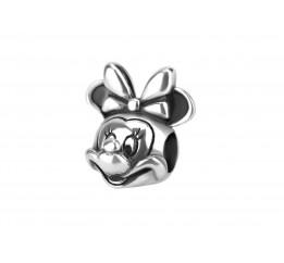Бусина пандора серебряная Мини Маус (С008)