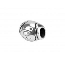 Бусина пандора серебряная Щенок (С021)