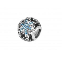 Бусина пандора серебряная Цветок (С004)