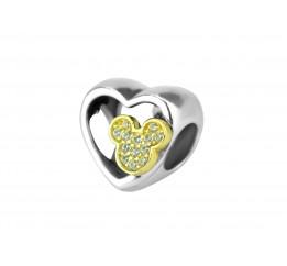 Бусина пандора серебряная Сердце Мини  (Р781)