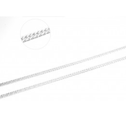 Цепочка серебряная Двойной ромб (PRD70)