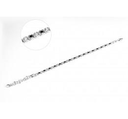 Браслет серебряный с цирконием Арабка (11709сл)