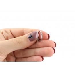 Серьги серебряные Кольца (2615015)