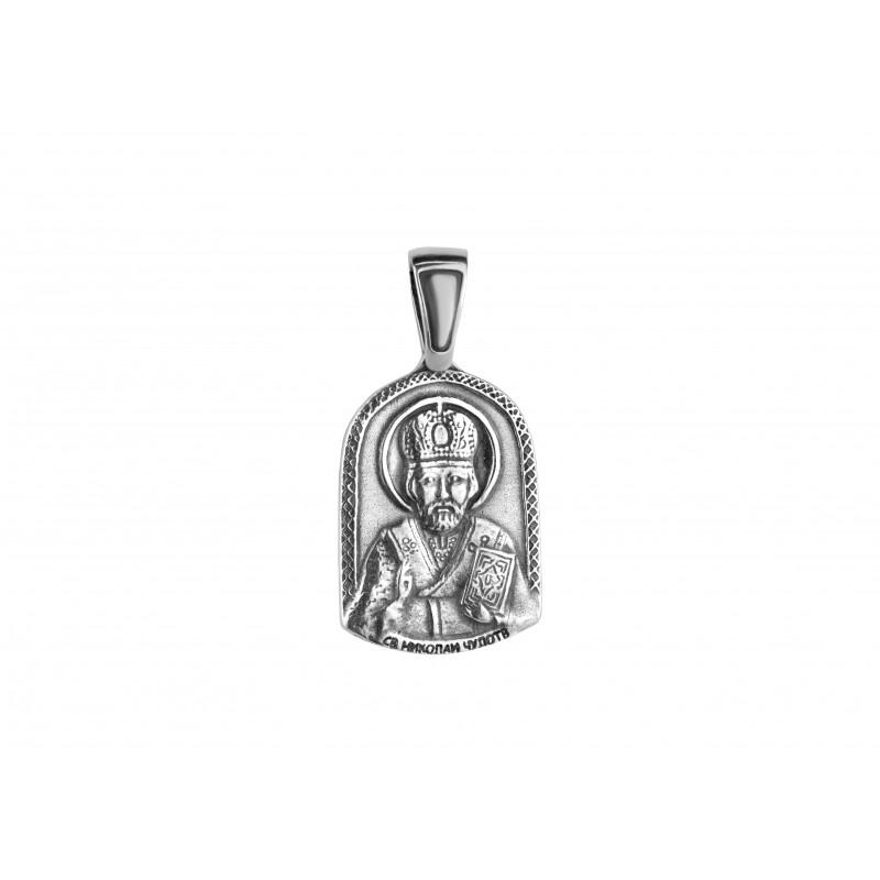 Ладанка серебряная Николай Чудотворец (54)