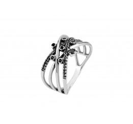Кольцо серебряное Фредерика (11355)