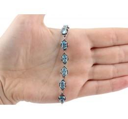 Браслет серебряный с цирконием Монтана (44147)