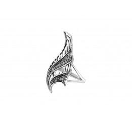 Кольцо серебряное Веер (11396)
