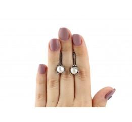 Серьги серебряные Лягушка 2 (22081)