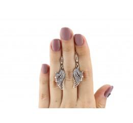 Серьги серебряные Веер (22473)