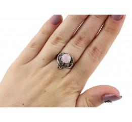 Кольцо серебряное с розовым кварцем  Лили (11243кв)