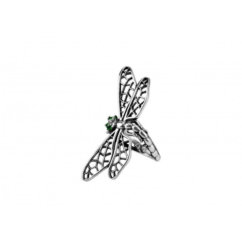 Кольцо серебряное Стрекоза (11151)