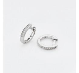 Серьги серебряные Кольца с фианитами (4786)
