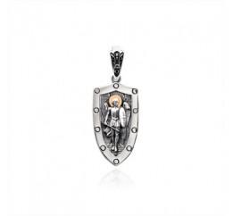 Подвес серебряный с золотом Архангел Михаил (570п)
