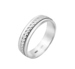 Кольцо серебряное Обручальное 1 (ОС-7501)