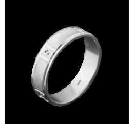 Кольцо серебряное Обручальное 1 (ОС-5002)