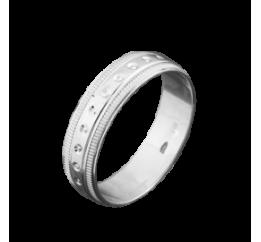 Кольцо серебряное Обручальное 1 (ОС-5510)
