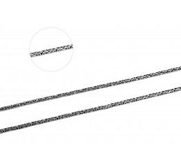 Цепочка серебряная Лисий хвост (50/2)