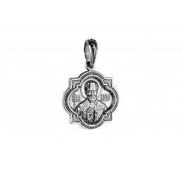 Ладанка серебряная Николай Чудотворец (РП63)