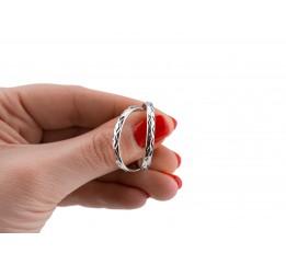 Серьги серебряные Кольца (СРТ25)