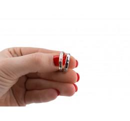 Серьги серебряные Кольца (СРТ15)