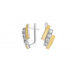 Серьги серебряные с золотом (0440.10с)