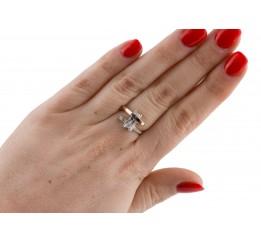 Кольцо серебряное с золотом (0264.10к)