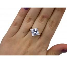 Кольцо серебряное с золотом (0454.10к)