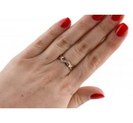 Кольцо серебряное с золотом и цирконием (0648.10к)