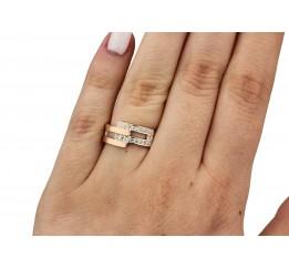 Кольцо серебряное с золотом (0140.10к)