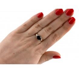 Кольцо серебряное с золотом (0254.10кч)