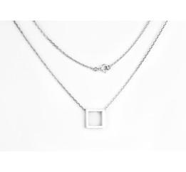 Колье серебряное Квадрат (7224.10)