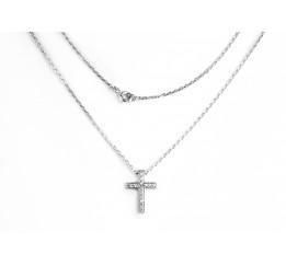 Колье серебряное Крестик (0542.10)