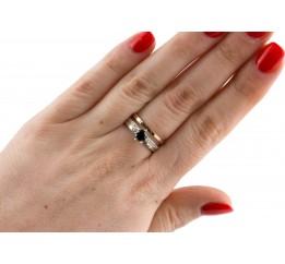 Кольцо серебряное с золотом (0112.10кч)