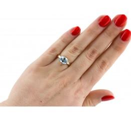Кольцо серебряное с золотом (0254.11к)