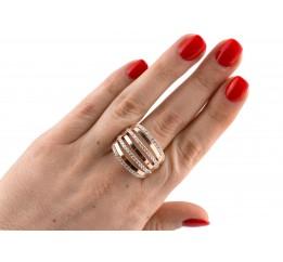Кольцо серебряное с золотом (0280.10к)