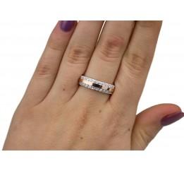 Кольцо серебряное с золотом (0190.10к)
