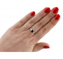 Кольцо серебряное с золотом и цирконием (0396.10кч)