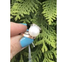 Кольцо серебряное с золотом (0394.10к)